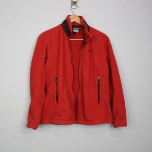 Patagonia Dark Orange Regulator Fleece Jacket sz M